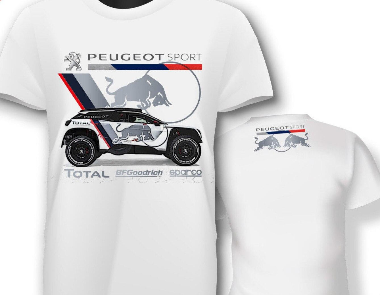 ><font><b>2018</b></font> New Summer Cool Tee Shirt T Shirt France Car 3008 <font><b>2018</b></font> Dkr <font><b>Peru</b></font> Bolivia Argentina Rally Car Cotton T Shirt 031497