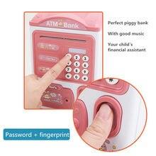 Hucha electrónica automática, caja de dinero con contraseña ATM, caja de ahorro de dinero en efectivo, caja fuerte de banco, depósito automático, billetes, Juguetes