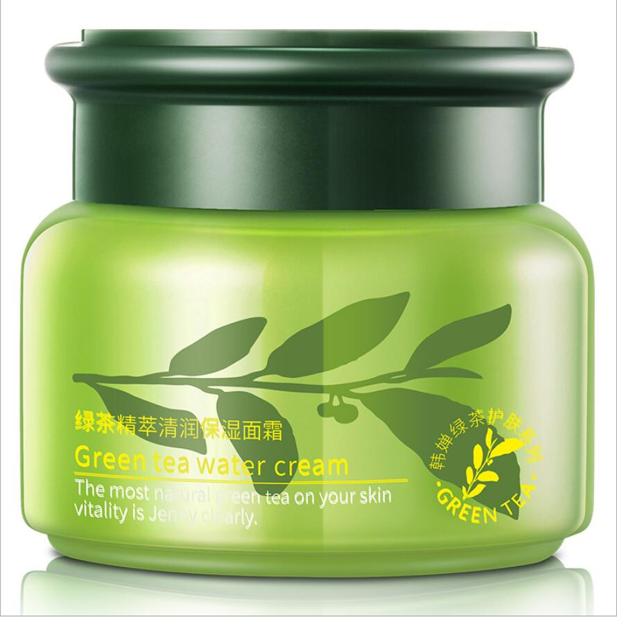 50G Rorec Green Tea Essence Moisturzing Face Cream Facial Care Whitening Cream Acne Treatment Oil Control Skin Beauty