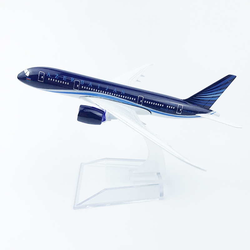 1:400 Scale 16CM Boeing B787 AZAL Azerbaijan Airlines Airplane Model Aircraft Diecast Metal Alloy Plane Gift Display Collectible
