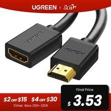 HDMI удлинитель Ugreen 4K 60 Гц, HDMI удлинитель 2,0 штекер гнездо для HDTV Nintendo Switch PS4/3 HDMI удлинитель