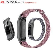 Huawei monitor de postura original honor band 5, monitor inteligente de basquete com pulseira, monitor de postura de corrida, 2 modos de uso, resistente à água, 50 metros 5atm