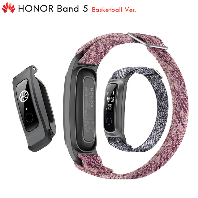 Original Huawei Honor Band 5 Basketball Ver Smart Band Running Posture Monitor 2 Wearing Mode Water Resistant 50 Meter 5ATM