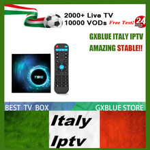 T95 Android 10.0 tv box 4GB 64GB GXBLUE Italy IPTV Subscription 2000 Channel Italian France Germany Mediaset Premium Dutch(China)