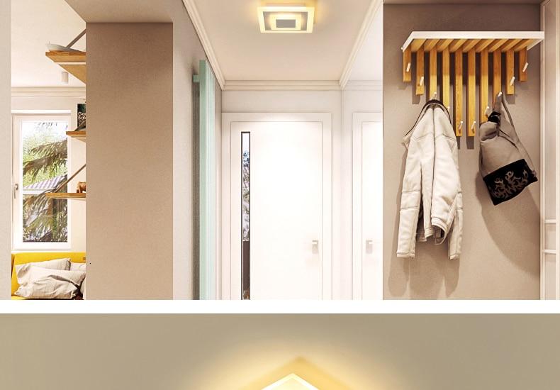 H9e6ce071d71648d5a0c5033099914d75j Modern ceiling lights 12w for hallway balcony corridor Coffe white light lamps bedroom luminaria teto acrylic lamparas de techo