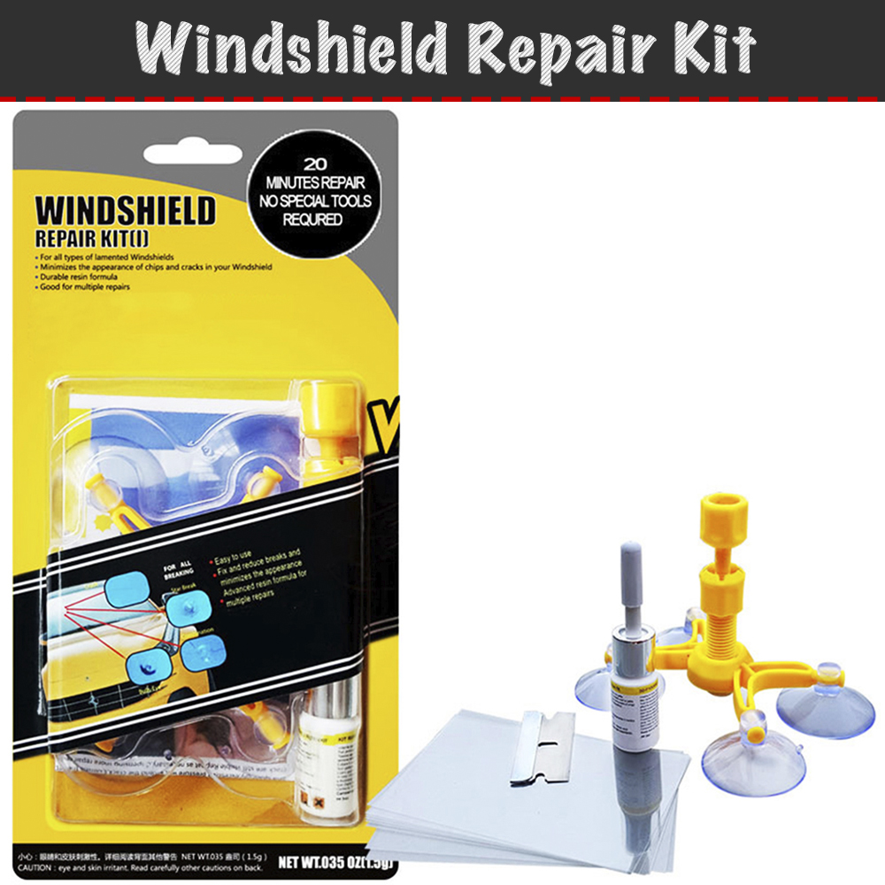 Tool Kit for repair chips and cracks auto glass DIY windshield repair kit, repair kit, repair DIY