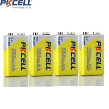 4 pièces * NI MH 250Mah 6F22 9V batterie rechargeable pour thermomètre électronique