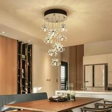 New Modern Led Lamp Crystal Design Chandelier Lustre Living Room Kitchen Foyer Light Fixtures Decor Home Lighting Metal G4