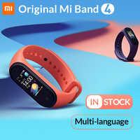 En Stock Original Xiao mi bande 4 Smart Band4 Bracelet Fitness Bracelet musique Bracelet Bluetooth 5.0 AMOLED couleur écran tactile