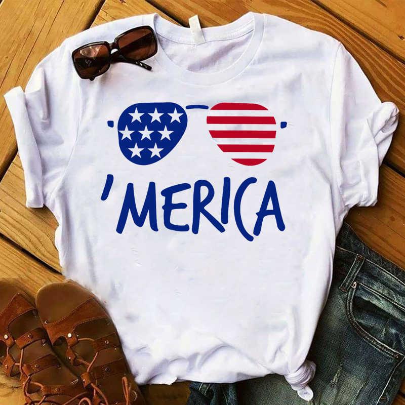 2019 Camicia Delle Donne di Vino Americano Delle Donne Grafica Stampata USA Flag di Stampa Top Lettere F Breve Maglietta Del Manicotto Delle Donne Femminili T t-shirt