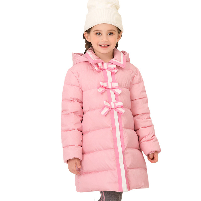 Princess Brand 2019 Little Girl Down Coat Bow Decoration size 4 5 6 8 10 years High Quality Kids Puffer Jackets