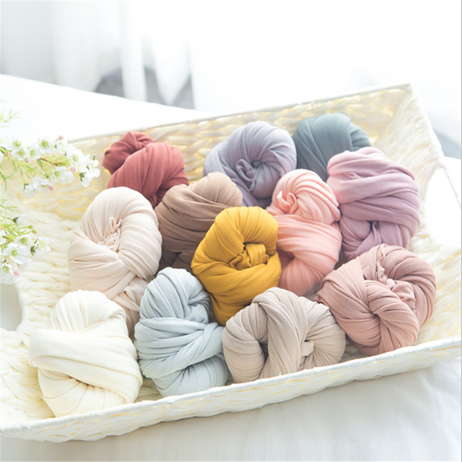 Newborn Stretch Wrap Swaddle Baby Photography Props Blanket Wraps Stretch Knit Wrap Newborn Photo Wraps Cloth Accessories
