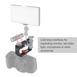 Image 3 - Andoer klatka operatorska kamery Rig uchwyt stabilizator wideo Rig dla klatka operatorska Monitor światło led do kamery mikrofon do lustrzanki cyfrowe