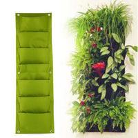 Зеленая вертикальная садовая сеялка, настенная посадка цветка, мешок для выращивания 7 карманных овощей, гостиной, сада, товары для дома