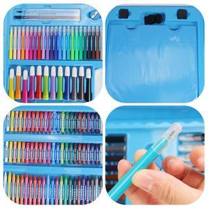 Image 5 - 176 adet çocuk çocuklar renkli kalem sanatçı seti seti boyama mum boya işaretleyici kalem fırça çizim alet takımı anaokulu malzemeleri