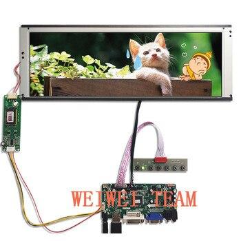 цена на Wisecoco 14.9 Inch 1280x390 TFT display Stretched Bar LCD LTA149B780F Screen Ultra Wide VGA DVI LVDS HDMI Driver Board