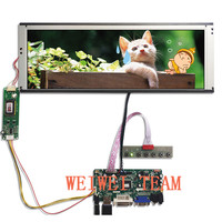 Wisecoco 14.9 Inch 1280x390 TFT display Stretched Bar LCD LTA149B780F Screen Ultra Wide VGA DVI LVDS HDMI Driver Board