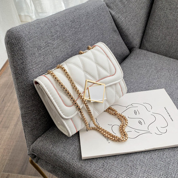 Raaqy Lattice Pu Leather Crossbody Bag