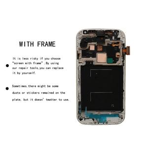 Image 3 - الأصلي Amoled شاشات الكريستال السائل الجمعية لسامسونج غالاكسي S4 i9506 i9500 i9505 i337 شاشة LCD تعمل باللمس عرض محول الأرقام + مع الإطار