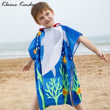Kids Poncho Towels Hooded Bathrobe for Girls Boys Quick Dry Cotton Beach Towel Cartoon Children Bath Towel Baby Swimming Towel 1