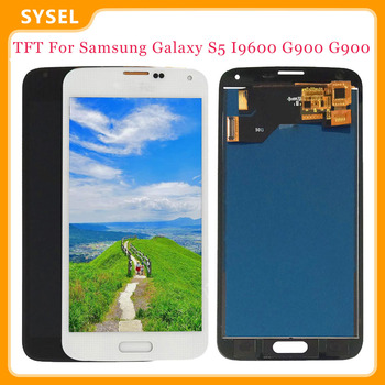 TFT For SAMSUNG Galaxy S5 i9600 G900 G900A G900F LCD Display Digitizer + Touch Panel Screen Assembly image