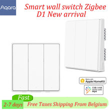 Aqara-Interruptor de pared D1 inteligente ZigBee, 3 botones, cable de fuego, luz, mando a distancia, inalámbrico, para APP Xiaomi Mi Home