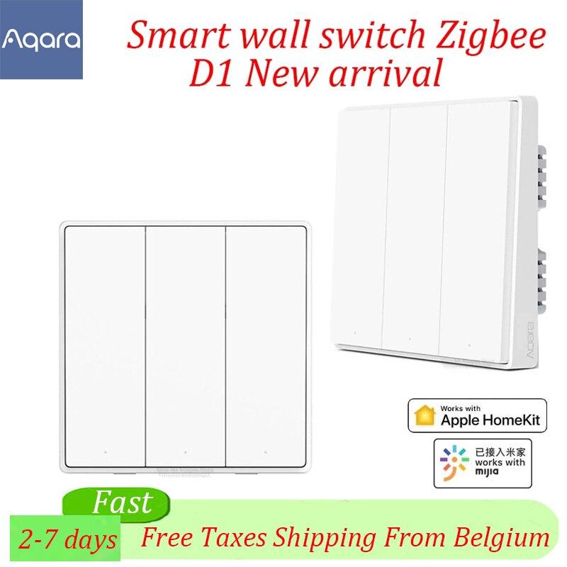 Aqara D1 Wand Schalter 3 Taste Smart ZigBee Null Linie Feuer Draht Licht Fernbedienung Wireless Key Schalter für Xiaomi mi Hause APP