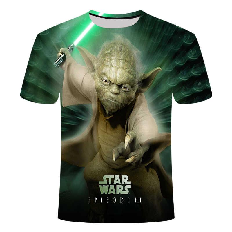 Di nuovo Modo di Star wars maglietta Delle Donne Degli Uomini di T-Shirt 3D Stampa Star Wars Movie Tee shirts Casual T di Estate Della Camicia Magliette e camicette marchio di Abbigliamento