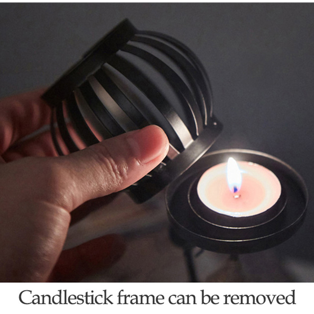New 1Pc Creative Beautiful Nordic Candlestick Abstract Iron Men Design Candle Holder Home Bar Restaurant Decor 5
