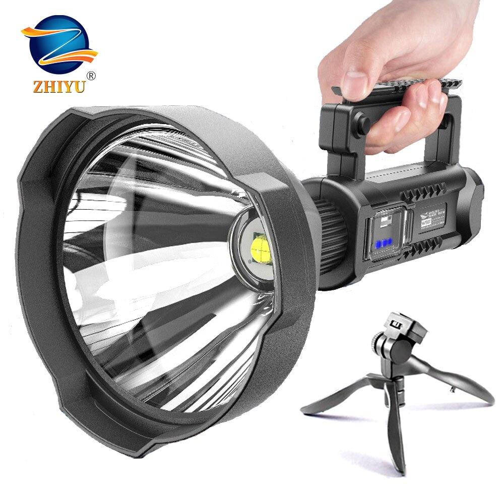 ZHIYU 2020 новый ультра яркий P50 P70 светодиодный светильник для вспышки встроенный аккумулятор мощный поиск поход вспышка светильник фонарь 4 ре...