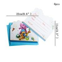 invitation card-6pcs