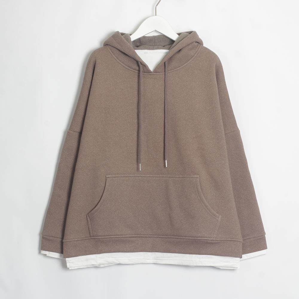 Wixra Women Casual Sweatshirts Warm Velvet Long Sleeve Oversize Hoodies Tops 2019 Autumn Winter Pullover Tops 14