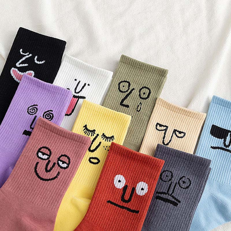 Korea Funky Harajuku Trend Women Colorful Funny Socks Girl Kawaii Socks Unisex Surprise Mid Women Socks Cute Socks Cheap Things