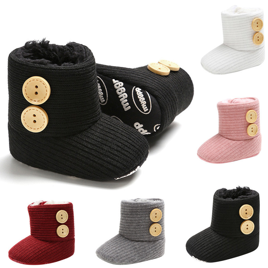 First Walkers Boots Shoes Toddler Baby-Girl Slip-On Boy Winter Fashion Warm Soft Solid