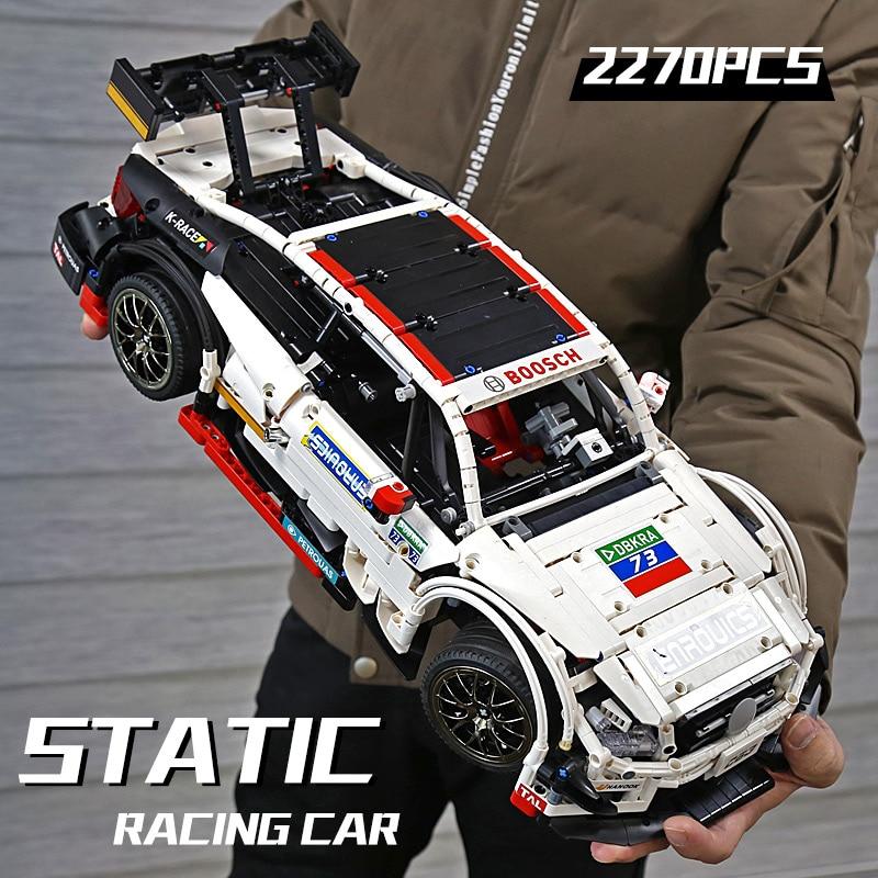 MOULD KING 13075 The MOC-6688 APP RC C63 White Race Car