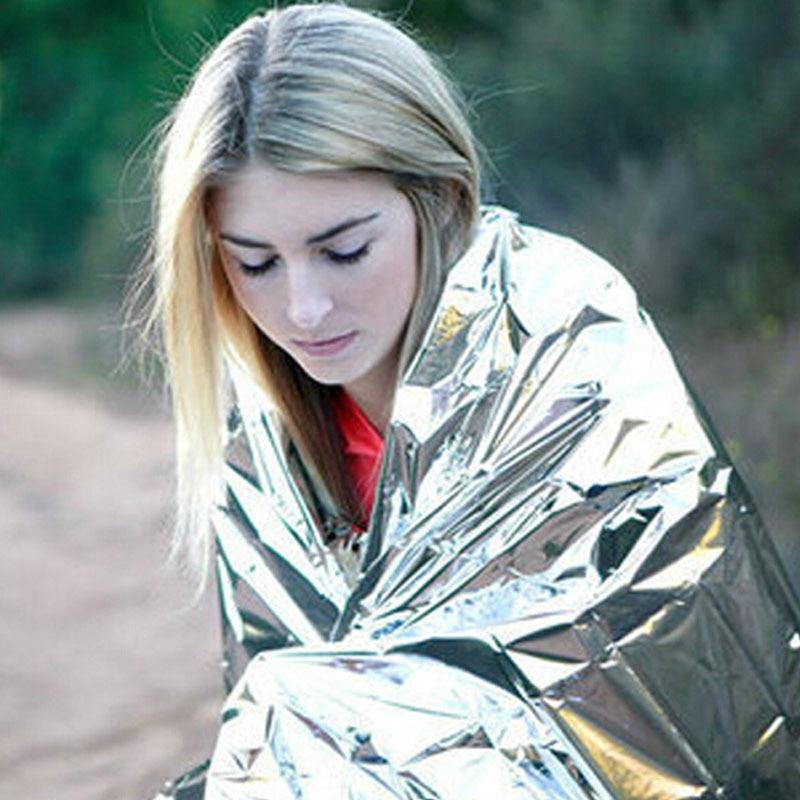 Cobertor térmico militar de emergência, cobertor à prova dágua para resgate e sobrevivência ao ar livre, folha térmica para primeiros socorros