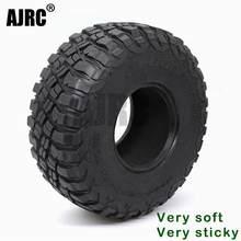 Ajrc pneus de borracha 2.2-polegada 120mm, pneus de borracha para 1/10 rock pista redcat scx10 ii axial 90046 90047 Trx-4 rsgwd carro rc d90 d110 Trx-6 g63
