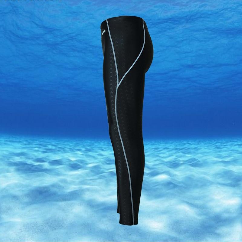 New Style Long Swimming Trunks Men Capri Long Swimming Trunks Bathing Suit Waterproof Shark Skin Quick-Dry Sun-resistant Warm Ho