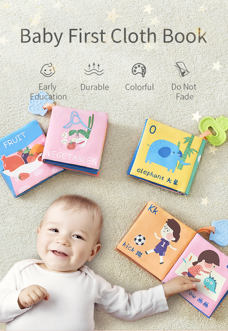1 Pcs Early Education Book Educational Toy SoFO Cloth Fabric Books ME
