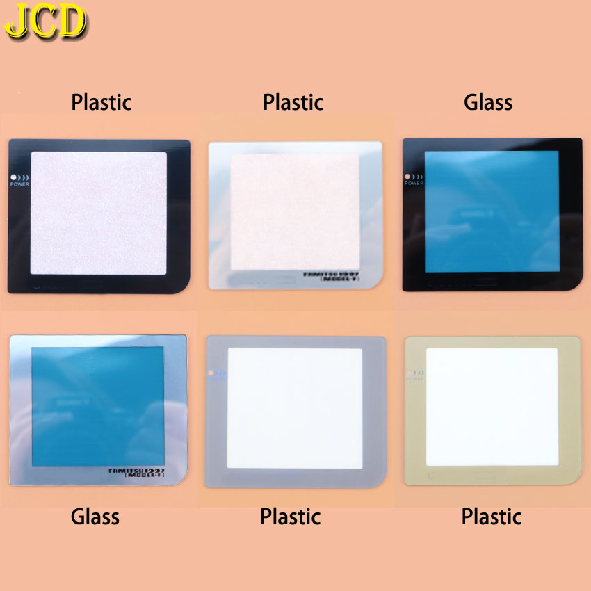 JCD 1PCS Plastic Glass Screen Lens Cover Replacement W/ Withou Light Lamp Hole For Gameboy Pocket For GBP