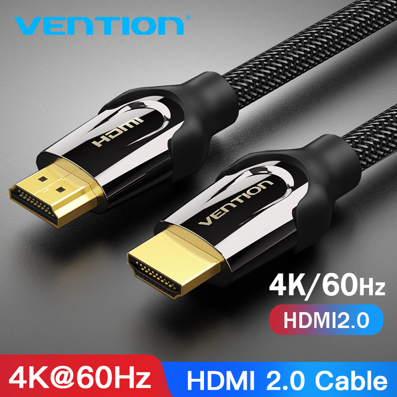 Cable HDMI Vention Cable HDMI a HDMI 4K HDMI 2,0 3D 60FPS Cable Splitter TV LCD portátil PS4/3 Cable de proyector HDMI