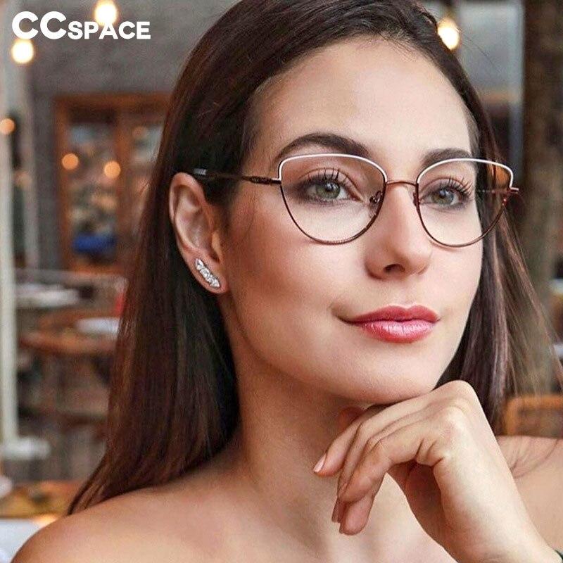 45969 Cat Eye Retro Simple Glasses Frames Men Women Optical Fashion Computer Glasses