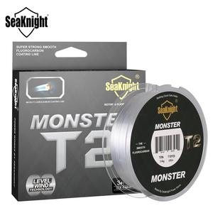 SeaKnight MS T2 Series 100% Double Fluorocarbon Structure Fishing Line 100M Micro Fluorocarbon Line Sinking Line Level Wind Tech