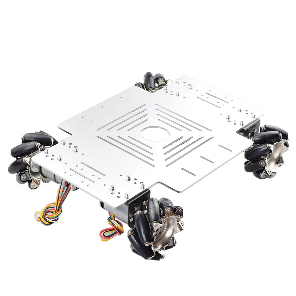 30KG Big Load Omni Mecanum Wheel Robot Car Chassis Kit With 12V Speed Encoder Motor For Arduino DIY Project POS Platfrom
