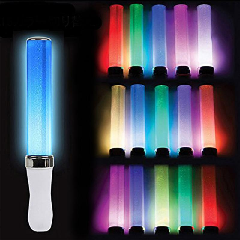 15-Colors Change LED Glow Celebration Home Light Stick Party Wedding Battery Powered Fluorescent Camping Vocal Concerts Decor