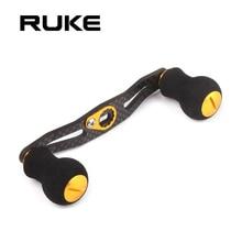 RUKE דיג סליל כפול ידית אורך 105mm 7 צבע פחמן נדנדה עם EVA ידית חליפת עבור daiwa ו shimano סליל DIY אבזר
