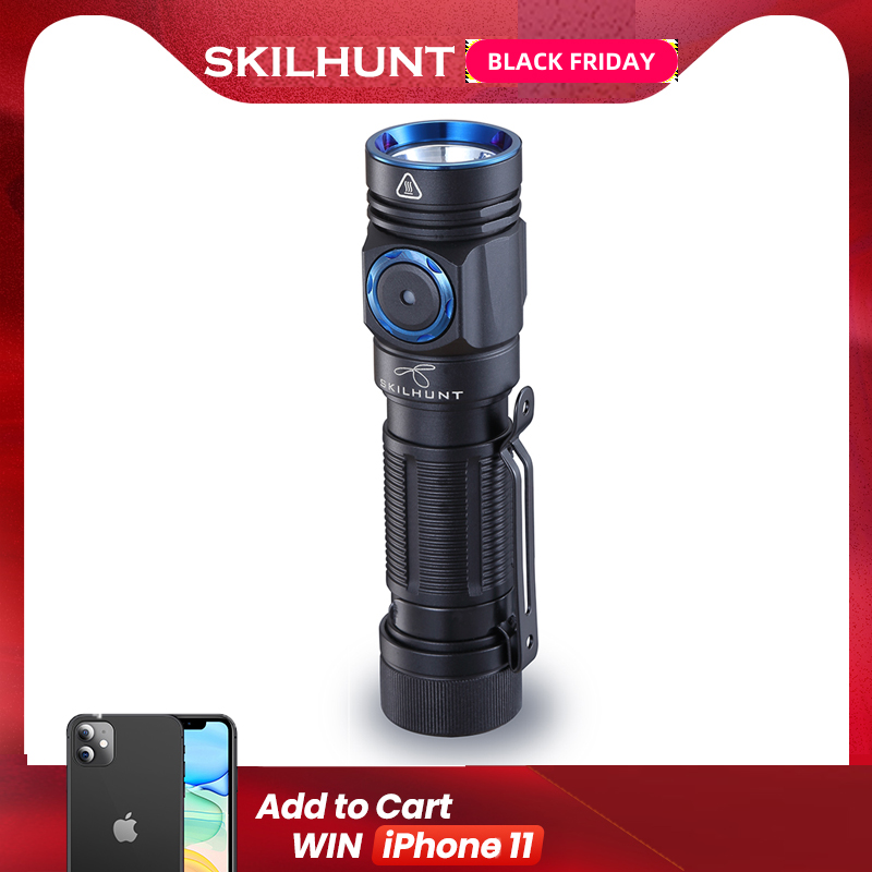 2019 arrival SKILHUNT M150 CREE XP-L2 LED 750 Lumens USB Edc-Torch magnetic charging flashlight with 14500/AA batteries OLIGHT image