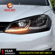 Funda de diseño para coche VW golf 7 MK7 MK7.5, faros delanteros 2013 2017, faros LED DRL, lente de doble haz HID, envío gratis