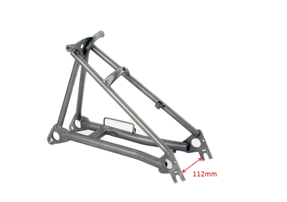 Titanium Rear Triangle Fit For Brompton Bike Normal Style
