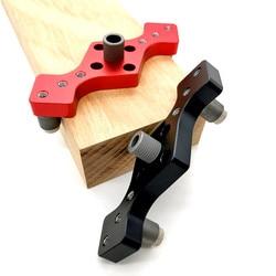 Vertical Pocket Hole Jig Woodworking Dowel Drill Guide Self Centering 3-Hole Drill Bit Guide Jig Locator 6/8/10mm Pin Fixture